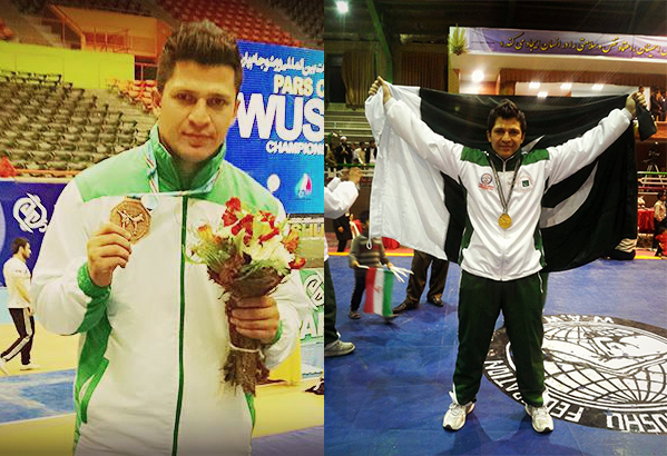 Alamgeer winning Brown Medal in Pars World Cup Wushu Championship and Gold Medal in West Asia Wushu Championship